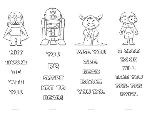 Star Wars Colouring Bookmarks - Set 3 | by Enokson