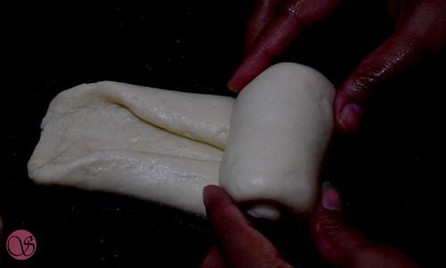 Hokkaido Milk Bread Shaping of the dough