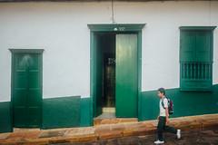 Student Walking to School, Barichara Colombia
