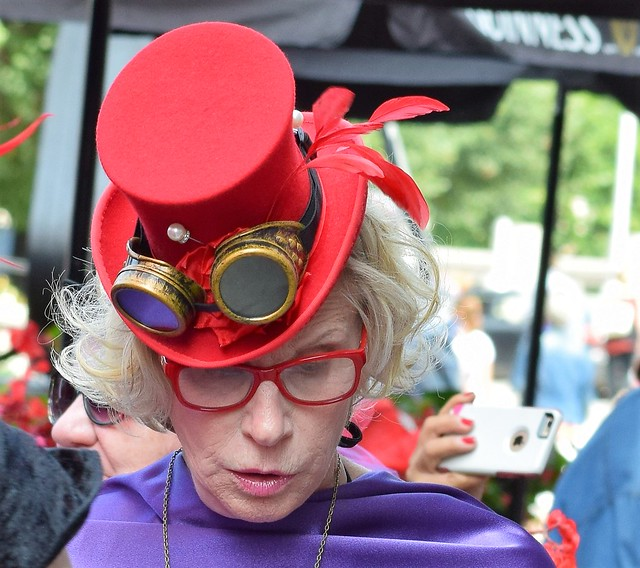 Red Hat Society Steam Punk with phone