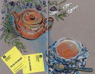Wales: teatime at Plas yn Rhiw on the Lleyn Peninsula   by Laura Frankstone