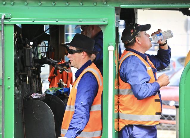 Queensland Rail Heritage Steam locomotive drivers