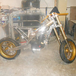 My version of a street supermoto build using Warp 9 products