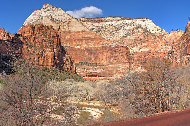 The Virgin River and the Beehives Zion NP-Utah 01421