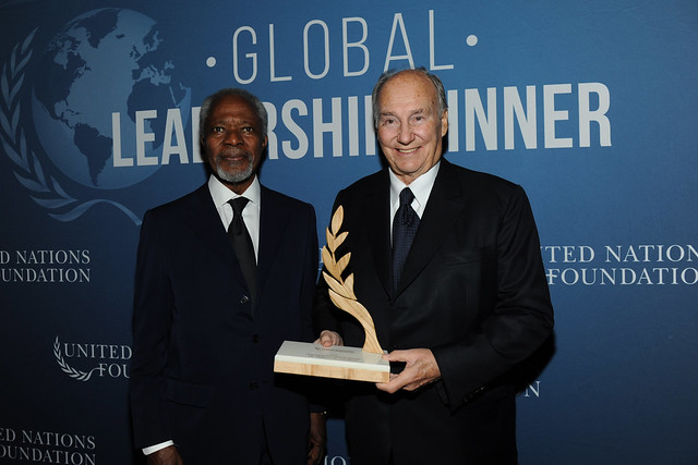 United Nations Foundation 2017 Global Leadership Dinner in New York.