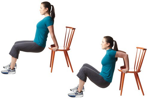 Image result for Chair Tricep Dips""