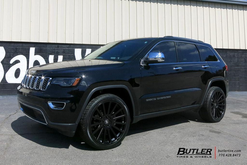 Black Grand Cherokee >> Jeep Grand Cherokee With 22in Black Rhino Spear Wheels And