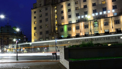 The Queens hotel in Leeds - motion blur