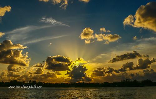 sun sunrise morning dawn clouds cloudy weather hobesound florida