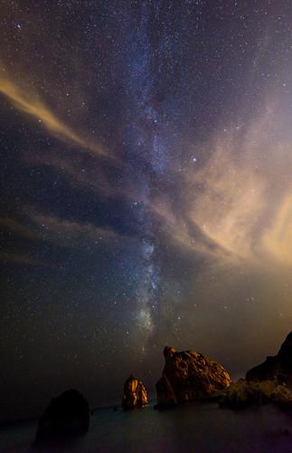 milkyway jordanriver panorama stars sea petratouromiou cyprus astrophotography