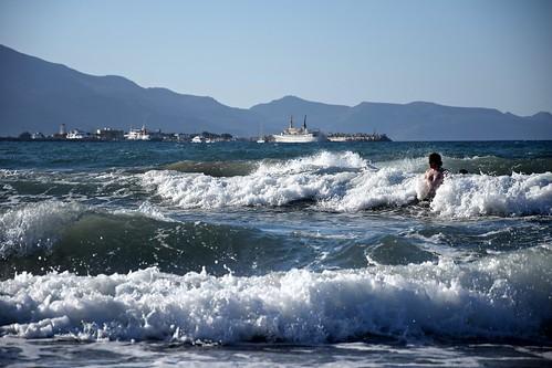 summer mood waves water swimming hills mountains gramvousa sea harbour kissamos peninsula crete kriti kreta greece greek landscape seascape nature