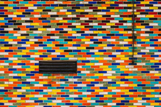 Brick Mosaic Wall, Chicago, 2017