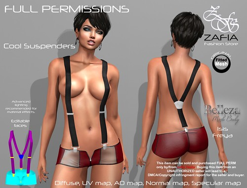 Cool Suspenders Belleza | by ZAFIA Fashion Store-METAPHOR