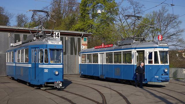Tram Museum Zürich - Ce 4/4 1392 und 1530