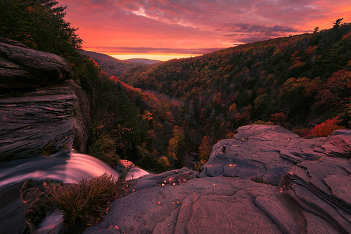kaaterskillfalls waterfall trees fallfoliage sunset catskillpark mountains catskillmountains hainesfallsny newyork leaves autumn fall greenecounty catskillforestpreserve