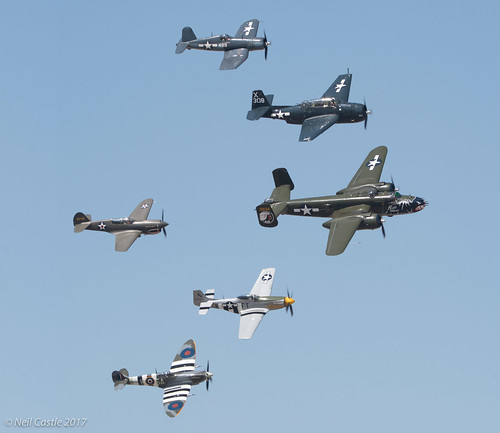 WW2 Warbirds in Formation