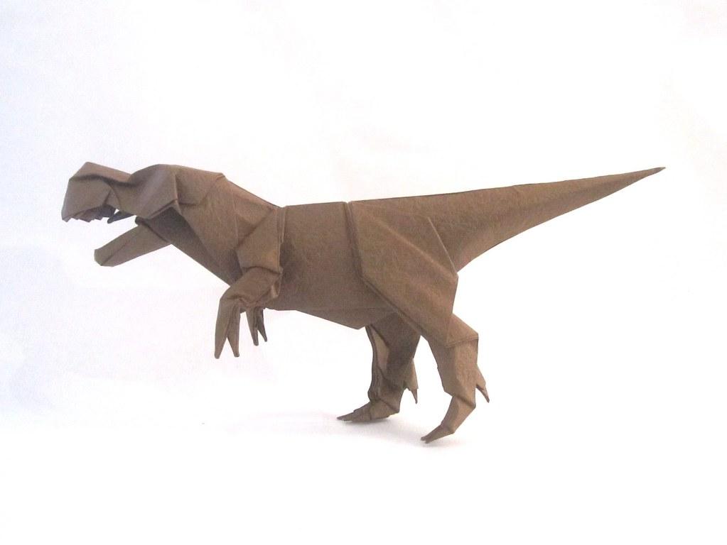 head t-rex dinosaur | 3D model | Polygon art, Paper dinosaur ... | 768x1023