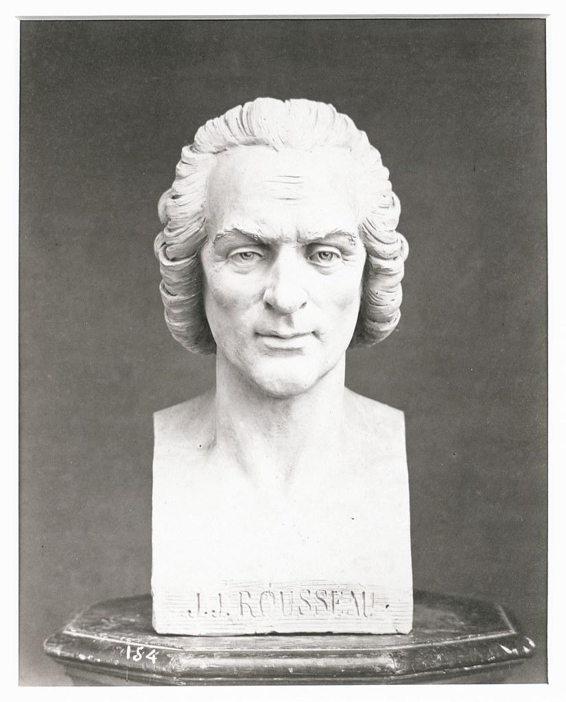 Delmaet Et Durandelle Bust Of Jean Jacques Rousseau Ca