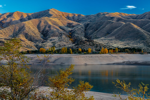 water lake skies cloud sky reflections lines fallcolors outdoor landscape landscapes sunset idaho canon5dmkiii reservoir