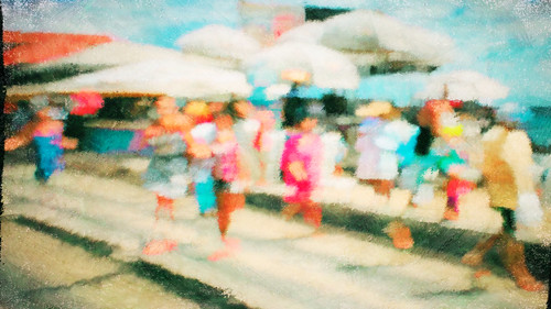 intentionalcameramovement color abstract impressionistic people beach
