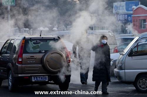 圖01.機動車污染嚴重,汽车尾氣成為空氣重污染源