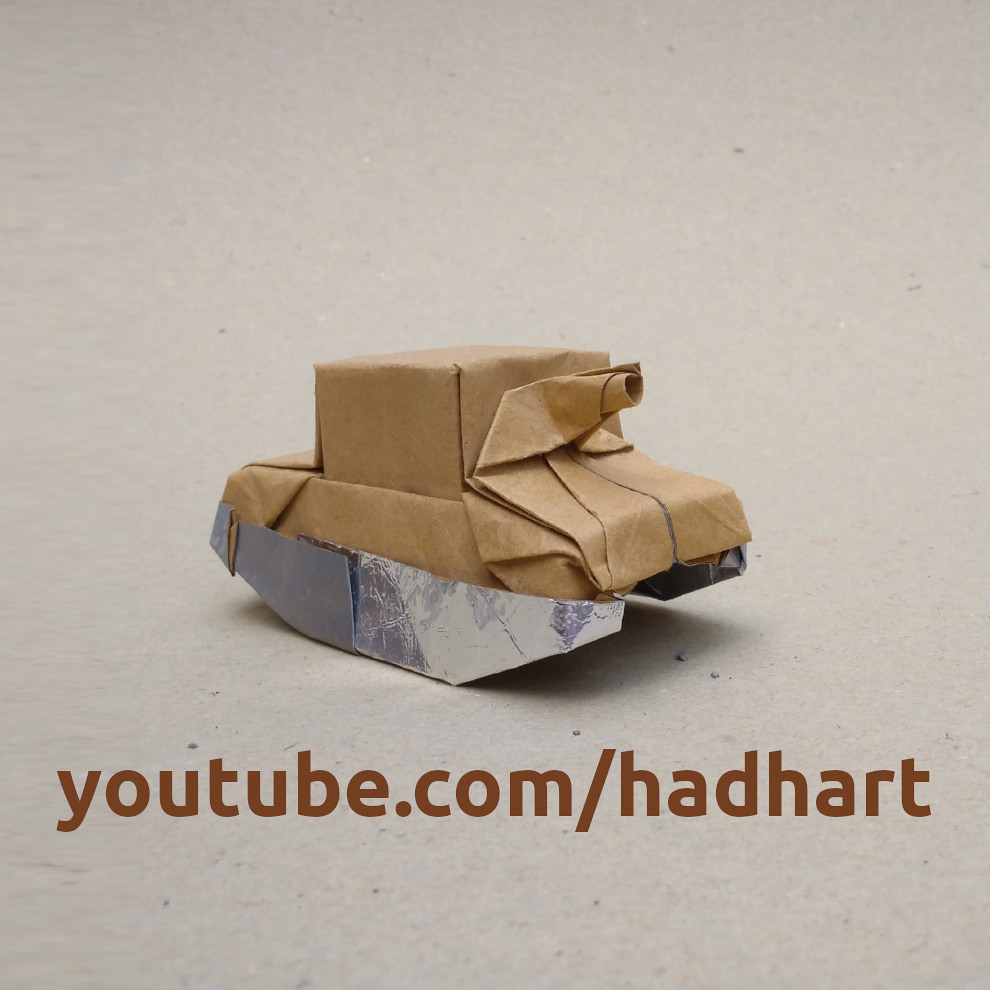 How to Fold an origami army tank with one sheet of paper « Origami ... | 990x990