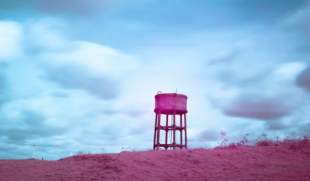 Water Tower in Infrared