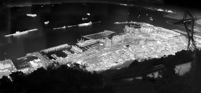 Gibraltar and harbour, thermal image