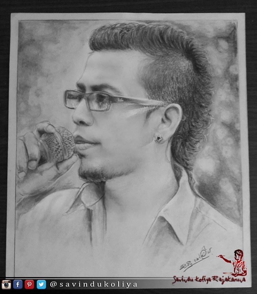 Best singer chamara weerasinghe pencil art savindu