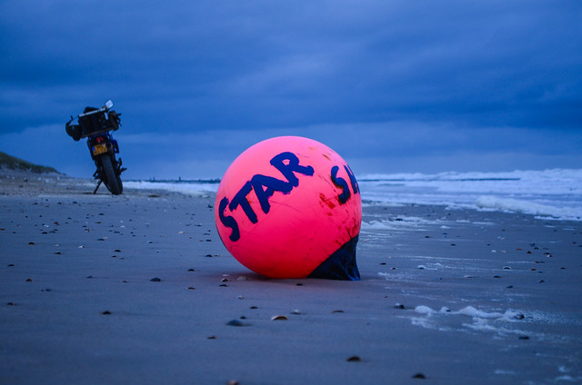 Vlieland - strand - noordwestenwind 4 bft.