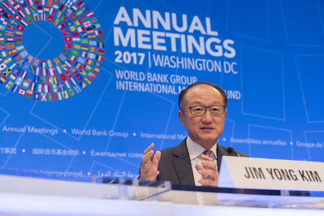 Thu, 10/12/2017 - 09:04 - October 12, 2017 - WASHINGTON, DC. World Bank / IMF 2017 Annual Meetings.  Watch Event  Opening Press Conference: World Bank Group President, Jim Yong Kim. Photo ID: 101217-JYKPressConf-0118f  Photo:  World Bank / Simone D. McCourtie