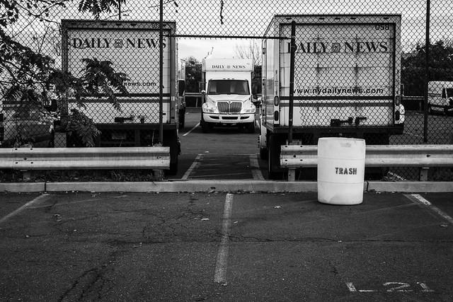 Daily News Printing Facilities Parking Lot.