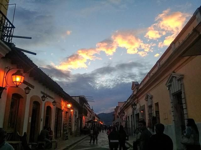 Sunset in San Cristobal, Chiapas