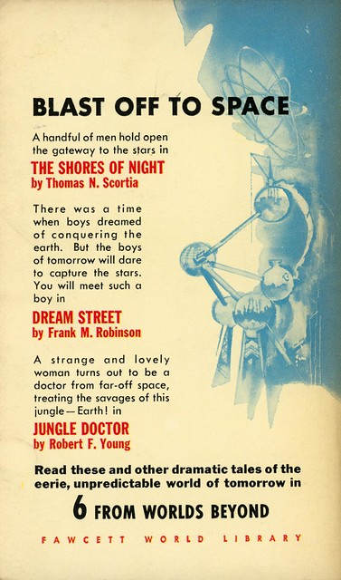 Crest Books s258 - T.E. Dikty - Six from Worlds Beyond (back)