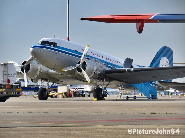 DDA Classic Airlines Douglas DC3 (PH-PBA) at Schiphol Airport in old livery