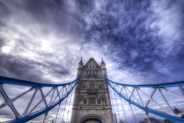 Drive over the Tower Bridge - London - England