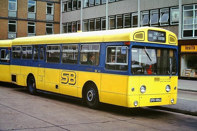 SM496 DPD496J --- Stevenage 3-9-73 *