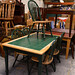 Green tiles and hardwood kitchen chairs E185 the set