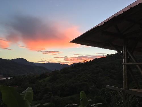 permatree valledelasluciérnagas ecuador landscape twilight valley zamora river zamorariver