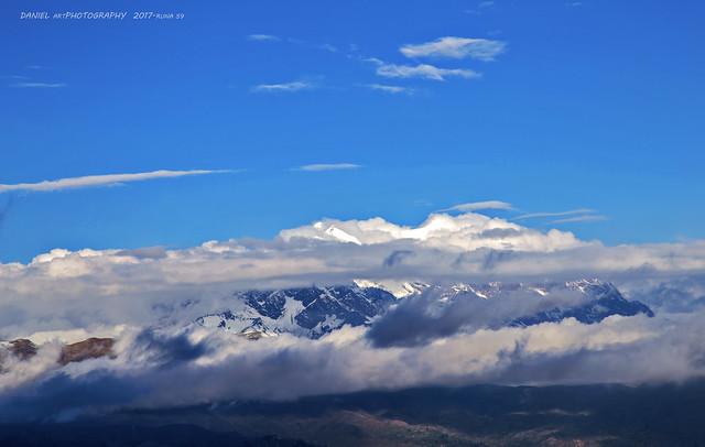 Illimani entre nubes