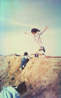 Viareggio. Strand. Sand. Sonne. Meer. Wind. Fliegende Kinder.