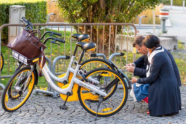 Obike-Mieträder in München per Smartphone ausleihen