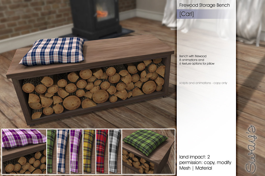 Fabulous Sways Carl Firewood Storage Bench Flf More Details At Dailytribune Chair Design For Home Dailytribuneorg