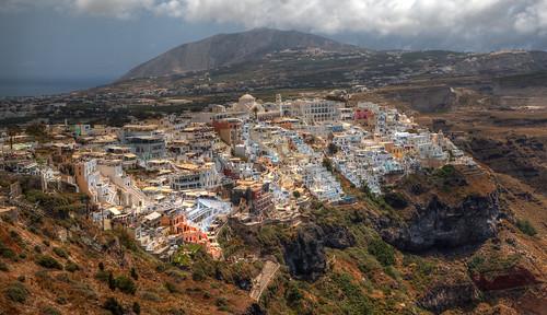 Fira, Santorini.   by F A Z
