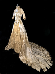 1865 Satin & Lace Wedding Dress