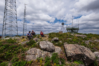 Lunch - Mt Wombat fire tower | by r reeve