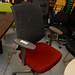 Two tone fabric chair vitra E75