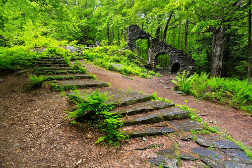 madamesherrisforest chesterfield newhampshire usa unitedstates outdoors nature landscape castle ruins stones structure architecture steps leaves spring stairs bwfilters leefilters nikon nikond610 tscolors