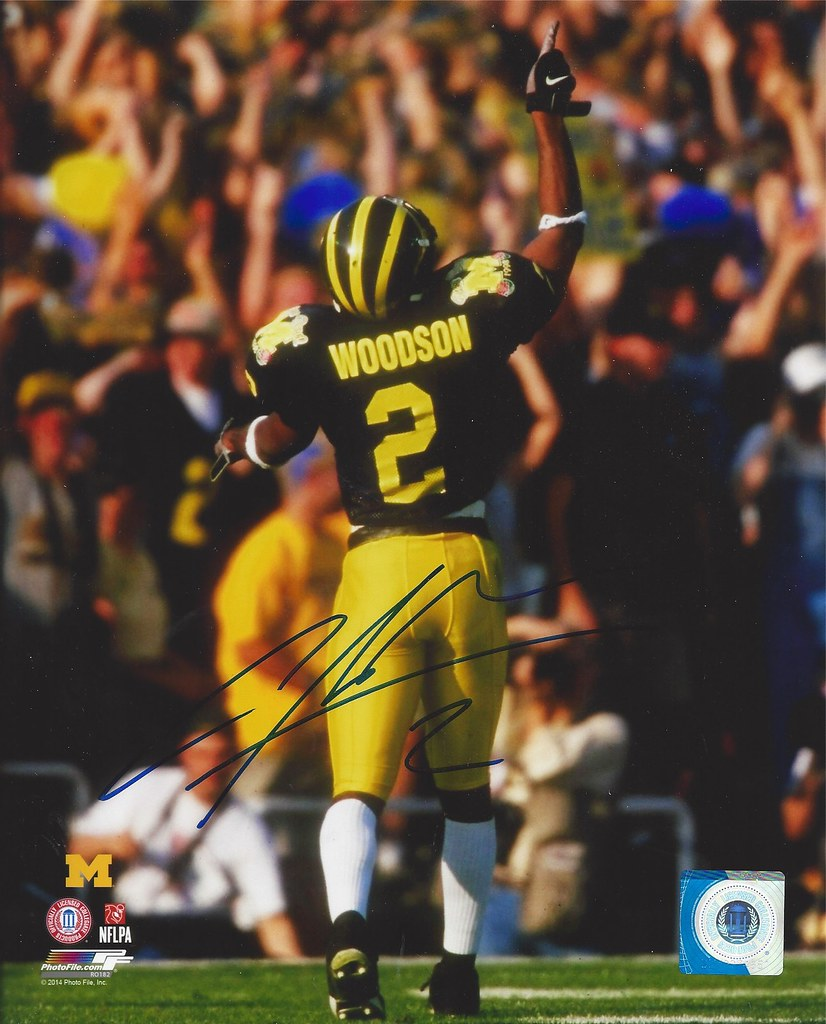 los angeles 20e87 adc5a Charles Woodson - University of Michigan - Autographed 8x1 ...