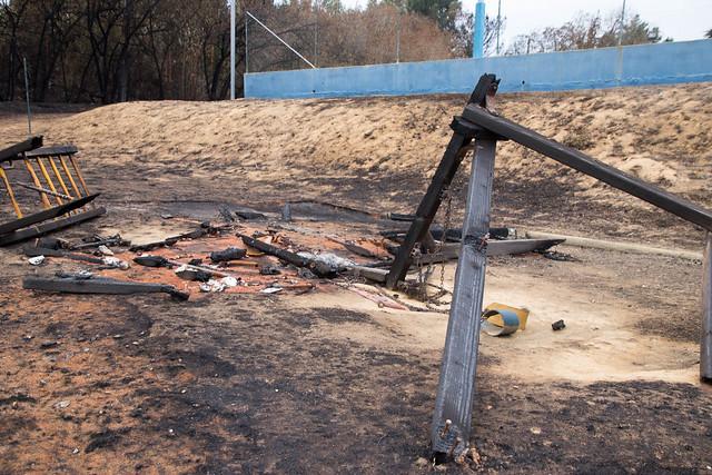 Wild Fire on Property/ Fogo na Propriedade